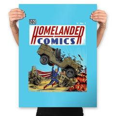 Laser Eyes Comics - Prints - Posters - RIPT Apparel
