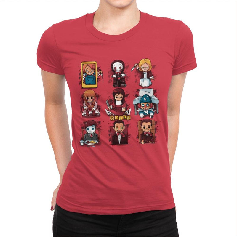 Horror Dolls - Womens Premium - T-Shirts - RIPT Apparel