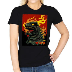 Godzilla on Fire - Womens - T-Shirts - RIPT Apparel