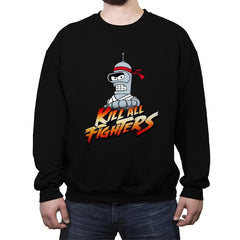 Kill all fighters - Crew Neck Sweatshirt - Crew Neck Sweatshirt - RIPT Apparel