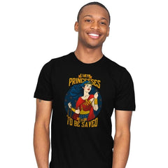 Not All Princesses Need to be Saved Reprint - Mens - T-Shirts - RIPT Apparel