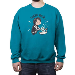 Wash Your Han - Crew Neck Sweatshirt - Crew Neck Sweatshirt - RIPT Apparel