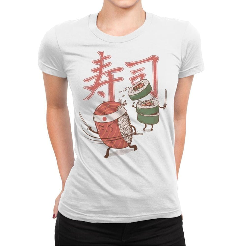 Sushi Warrior - Womens Premium - T-Shirts - RIPT Apparel