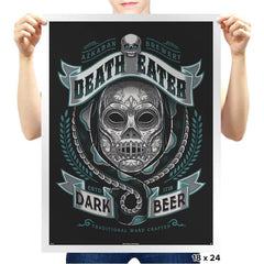 Deathly Dark Beer - Prints - Posters - RIPT Apparel