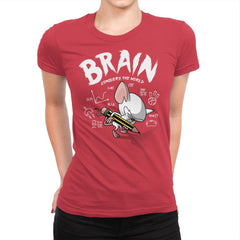 Brain Conquers The World! - Raffitees - Womens Premium - T-Shirts - RIPT Apparel