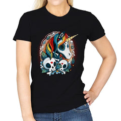 Sweet Unicorn Cammeo - Womens - T-Shirts - RIPT Apparel