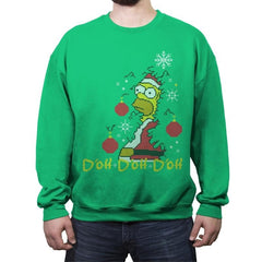 D'oh D'oh D'oh Santa Edition - Crew Neck Sweatshirt - Crew Neck Sweatshirt - RIPT Apparel