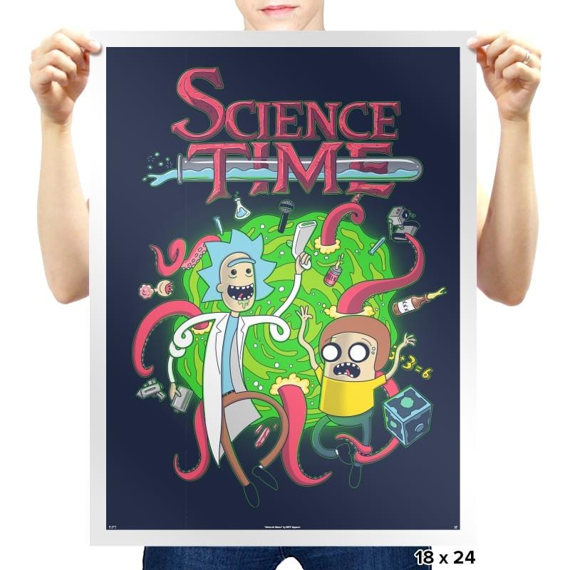 Science Time - Prints - Posters - RIPT Apparel