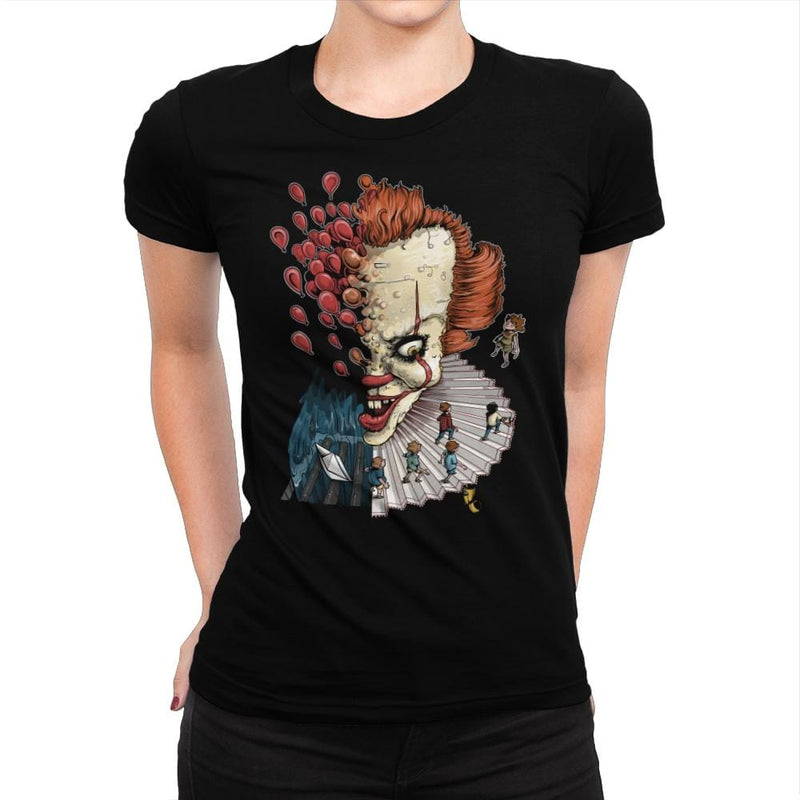 Floating Clown - Anytime - Womens Premium - T-Shirts - RIPT Apparel