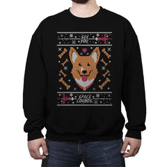 See you space cowdog... - Ugly Holiday - Crew Neck Sweatshirt - Crew Neck Sweatshirt - RIPT Apparel