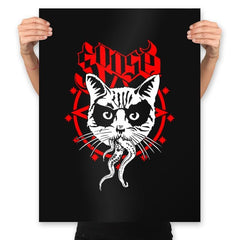 Black Metal Cat - Prints - Posters - RIPT Apparel