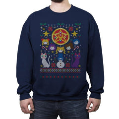 Merry Senshi - Crew Neck Sweatshirt - Crew Neck Sweatshirt - RIPT Apparel