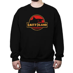 Jurassic Jaws - Crew Neck Sweatshirt - Crew Neck Sweatshirt - RIPT Apparel