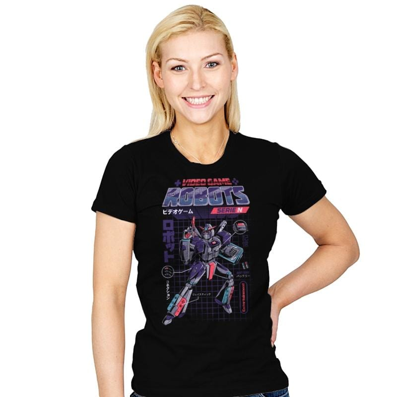 Video Game Robots - Series N - Womens - T-Shirts - RIPT Apparel
