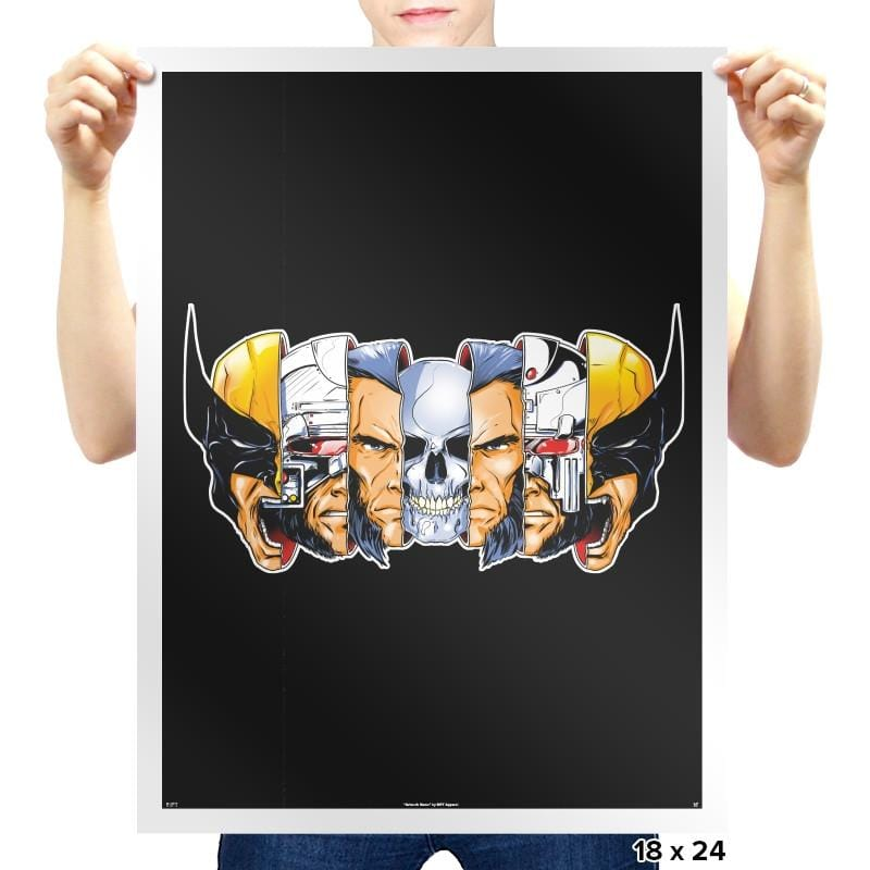 Berserker Break Down - Prints - Posters - RIPT Apparel
