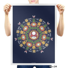 One Up Mandala - Prints - Posters - RIPT Apparel
