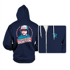 I Voted for Dustin - Hoodies - Hoodies - RIPT Apparel