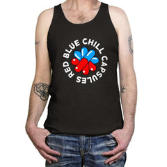 Red Blue Chill Capsules - Tanktop - Tanktop - RIPT Apparel