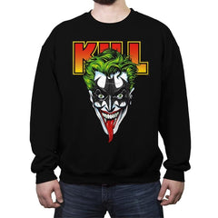 KISS THE BAT - Crew Neck Sweatshirt - Crew Neck Sweatshirt - RIPT Apparel