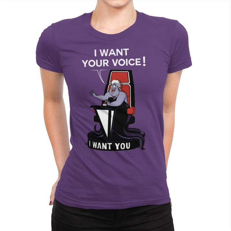 I Want Your Voice Now! - Raffitees - Womens Premium - T-Shirts - RIPT Apparel