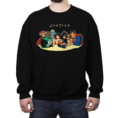 Justice Friends - Crew Neck Sweatshirt - Crew Neck Sweatshirt - RIPT Apparel