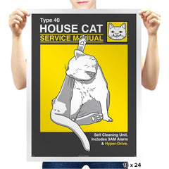House Cat Service Manual - Prints - Posters - RIPT Apparel