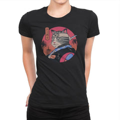 Samurai Cat - Womens Premium - T-Shirts - RIPT Apparel