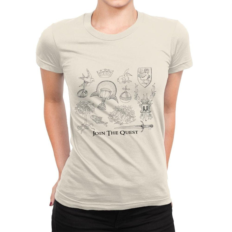 The Quest For The Grail - Womens Premium - T-Shirts - RIPT Apparel