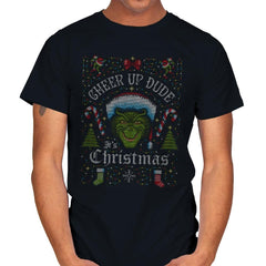 Cheer Up Dude, It's Christmas - Ugly Holiday - Mens - T-Shirts - RIPT Apparel