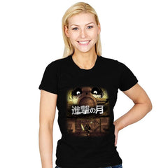 Attack on Moon  - Womens - T-Shirts - RIPT Apparel