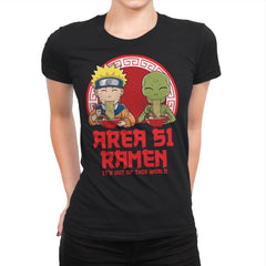 Area 51 Ramen - Womens Premium - T-Shirts - RIPT Apparel