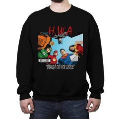 Straight Out For Justice - Crew Neck Sweatshirt - Crew Neck Sweatshirt - RIPT Apparel