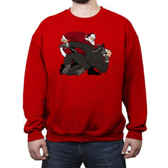 Santa vs Krampus - Crew Neck Sweatshirt - Crew Neck Sweatshirt - RIPT Apparel