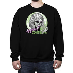Zombie Girl - Crew Neck Sweatshirt - Crew Neck Sweatshirt - RIPT Apparel