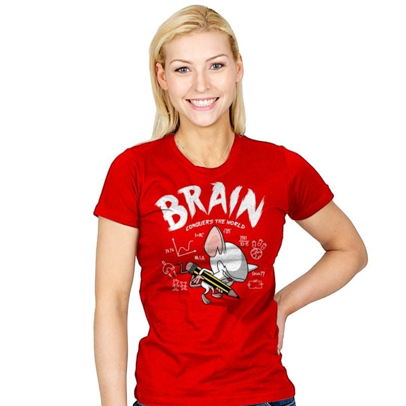 Brain Conquers The World! - Raffitees - Womens - T-Shirts - RIPT Apparel