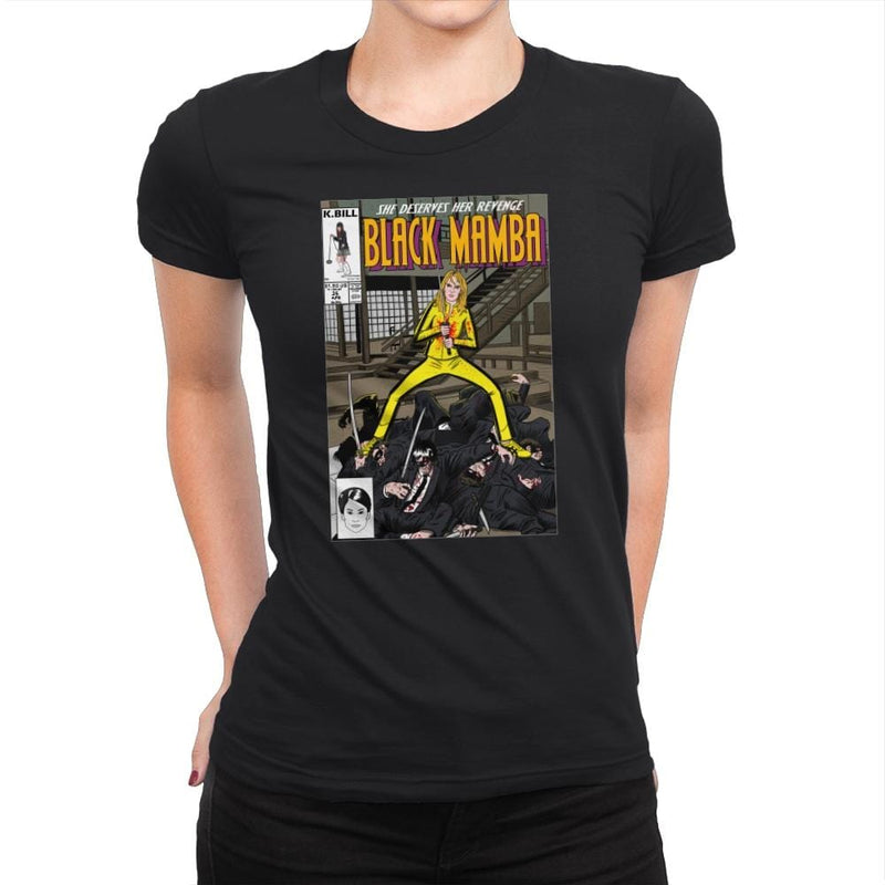 Black Mamba - Womens Premium - T-Shirts - RIPT Apparel