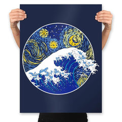 Starry Wave - Prints - Posters - RIPT Apparel