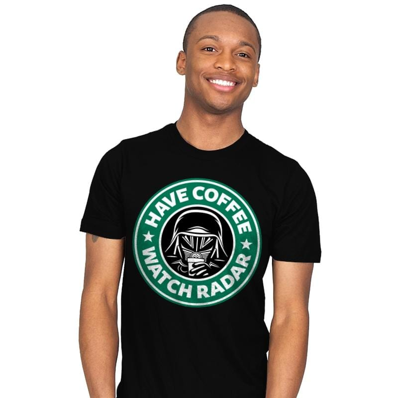 Have Coffee, Watch Radar - Mens - T-Shirts - RIPT Apparel
