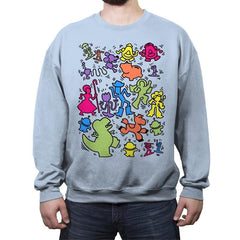 Toy Art - Crew Neck Sweatshirt - Crew Neck Sweatshirt - RIPT Apparel