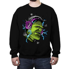 Electric Vibe - Crew Neck Sweatshirt - Crew Neck Sweatshirt - RIPT Apparel