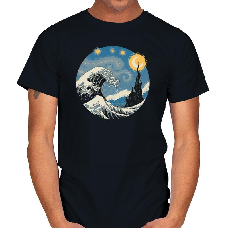 The Great Starry Wave - Mens - T-Shirts - RIPT Apparel