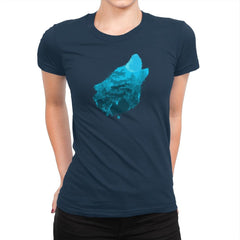 Bark at the Moon - Back to Nature - Womens Premium - T-Shirts - RIPT Apparel
