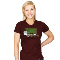 Coffee Lessons - Womens - T-Shirts - RIPT Apparel
