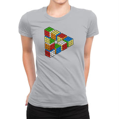 Magic Puzzle Cube Exclusive - Womens Premium - T-Shirts - RIPT Apparel