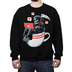 Love Death and Coffee - Crew Neck Sweatshirt - Crew Neck Sweatshirt - RIPT Apparel