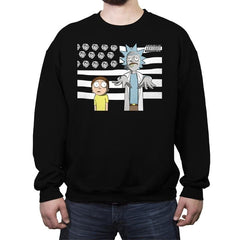 So Schwifty, So Clean - Crew Neck Sweatshirt - Crew Neck Sweatshirt - RIPT Apparel