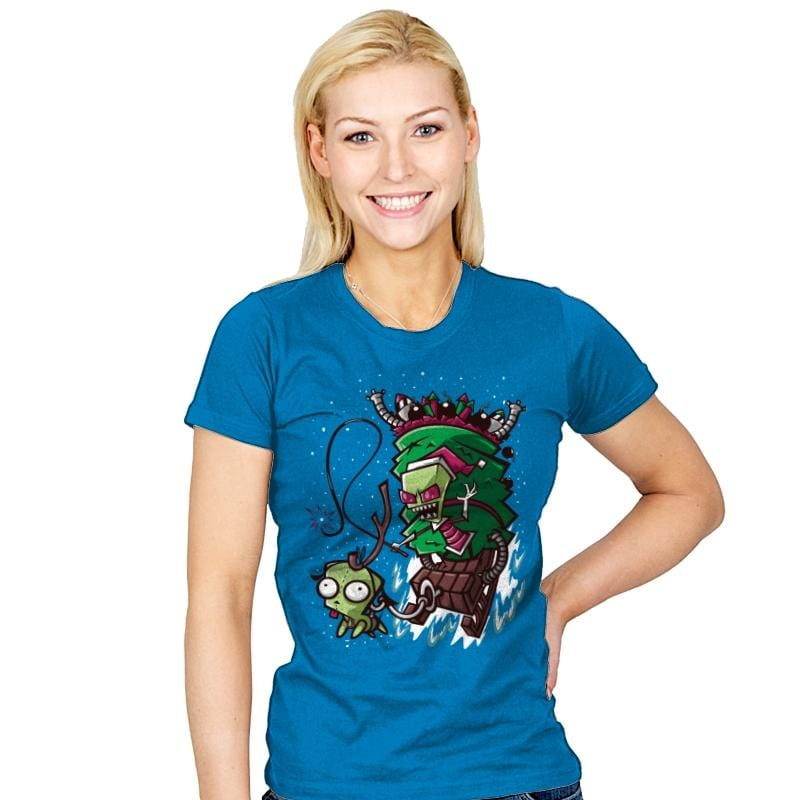 Zim Stole Christmas - Womens - T-Shirts - RIPT Apparel