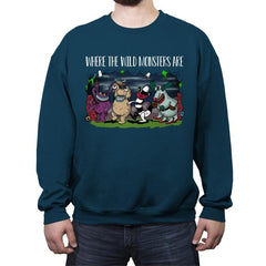 Wild Monsters - Crew Neck Sweatshirt - Crew Neck Sweatshirt - RIPT Apparel