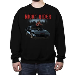 Night Rider - Crew Neck Sweatshirt - Crew Neck Sweatshirt - RIPT Apparel