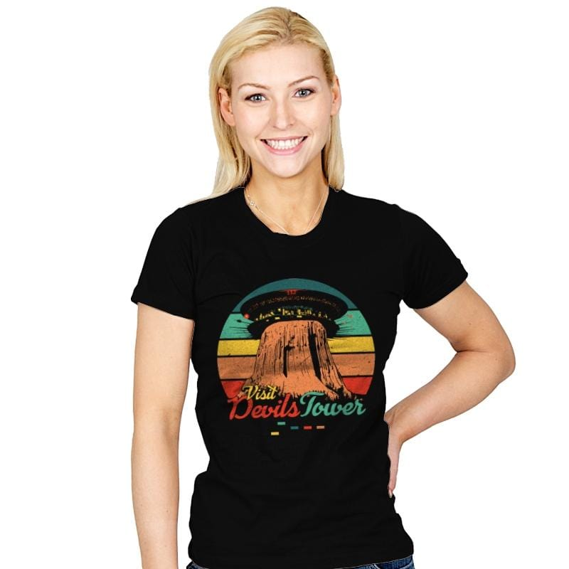 Visit Devils Tower - Womens - T-Shirts - RIPT Apparel